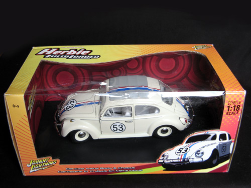 Herbie em miniatura na caixa original da Johnny Lightning